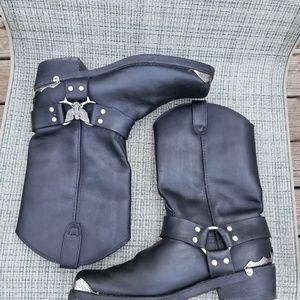 Dingo Eagle accent leather motorcycle boots